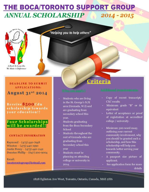 BTSG 2014 Scholarship Flyer Grenada_revised